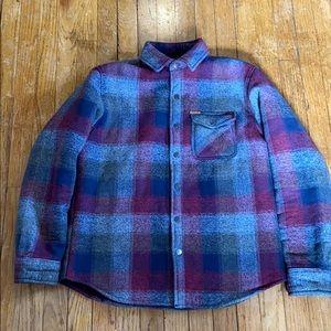 Matix Sherpa Lined Button Up Shirt Jacket